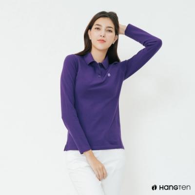 Hang Ten - 女裝 - 素面純色POLO衫 - 紫
