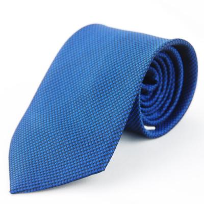 Alpaca 藍黑細格紋領帶