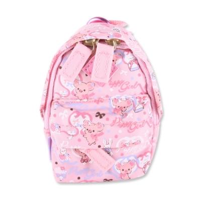 粉粉寶貝豬迷你背包造型吊掛小物收納包。粉紅 San-X