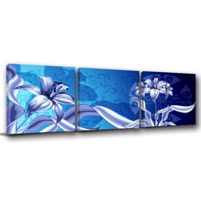 [全新展示品] 24mama掛畫 單聯式無框畫-藍色玲瓏 40x40cm