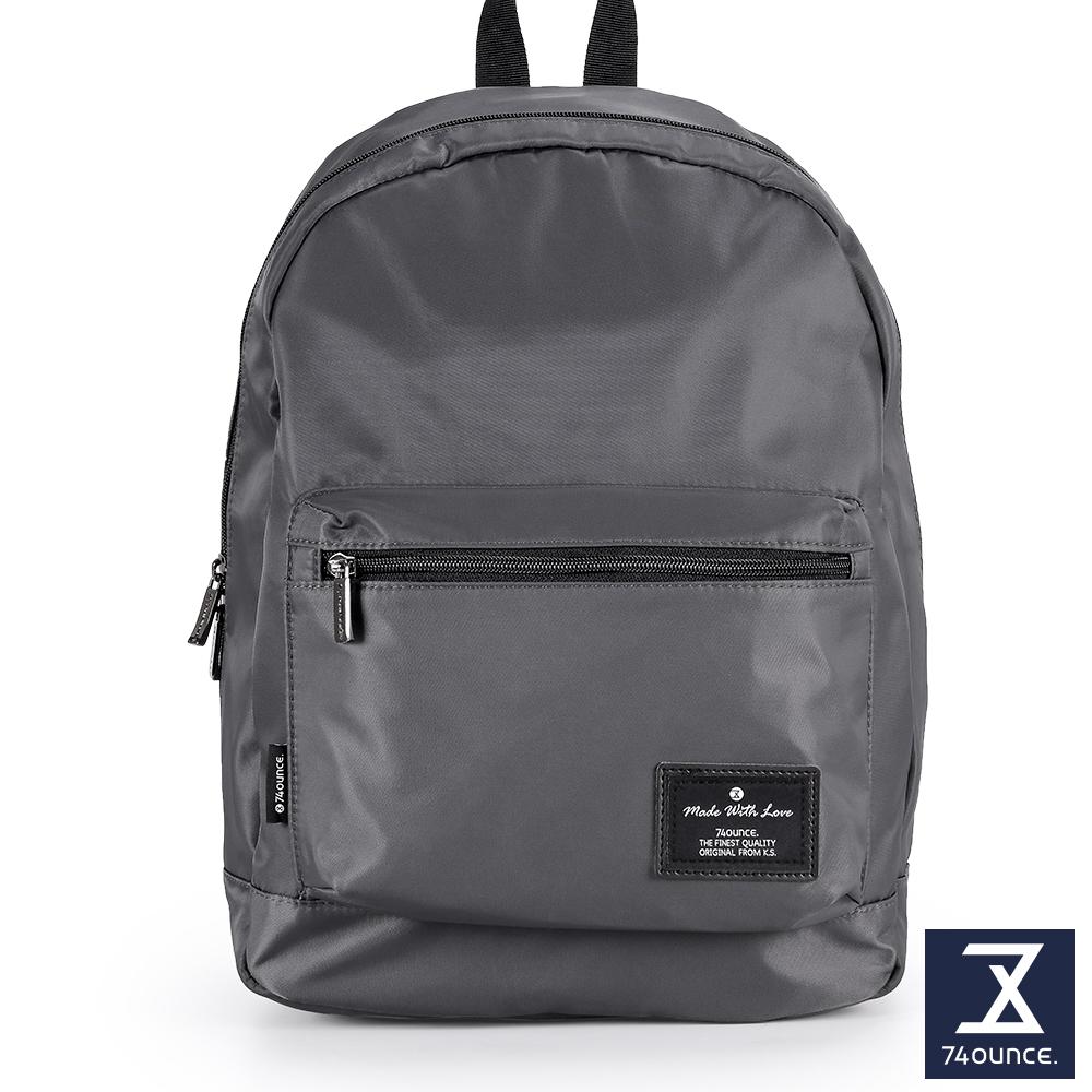 74盎司  Simple 多夾層設計後背包[LG-796]灰