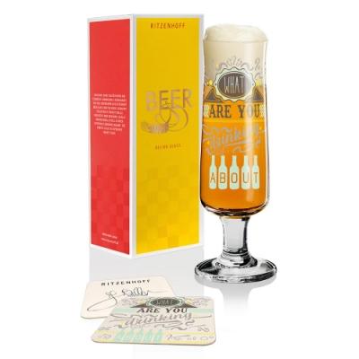 德國 RITZENHOFF BEER 新式啤酒杯-你喝什麼