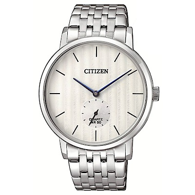 CITIZEN 卓越精英小秒針石英腕錶(BE9170-56A)-白/39mm @ Y!購物