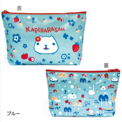水豚君北歐系列化妝包。藍色 kapibarasan