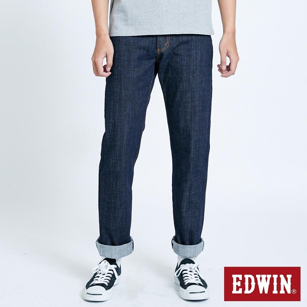 EDWIN 大尺碼 503 FLEX 伸縮中直筒 高腰牛仔褲-男-原藍色