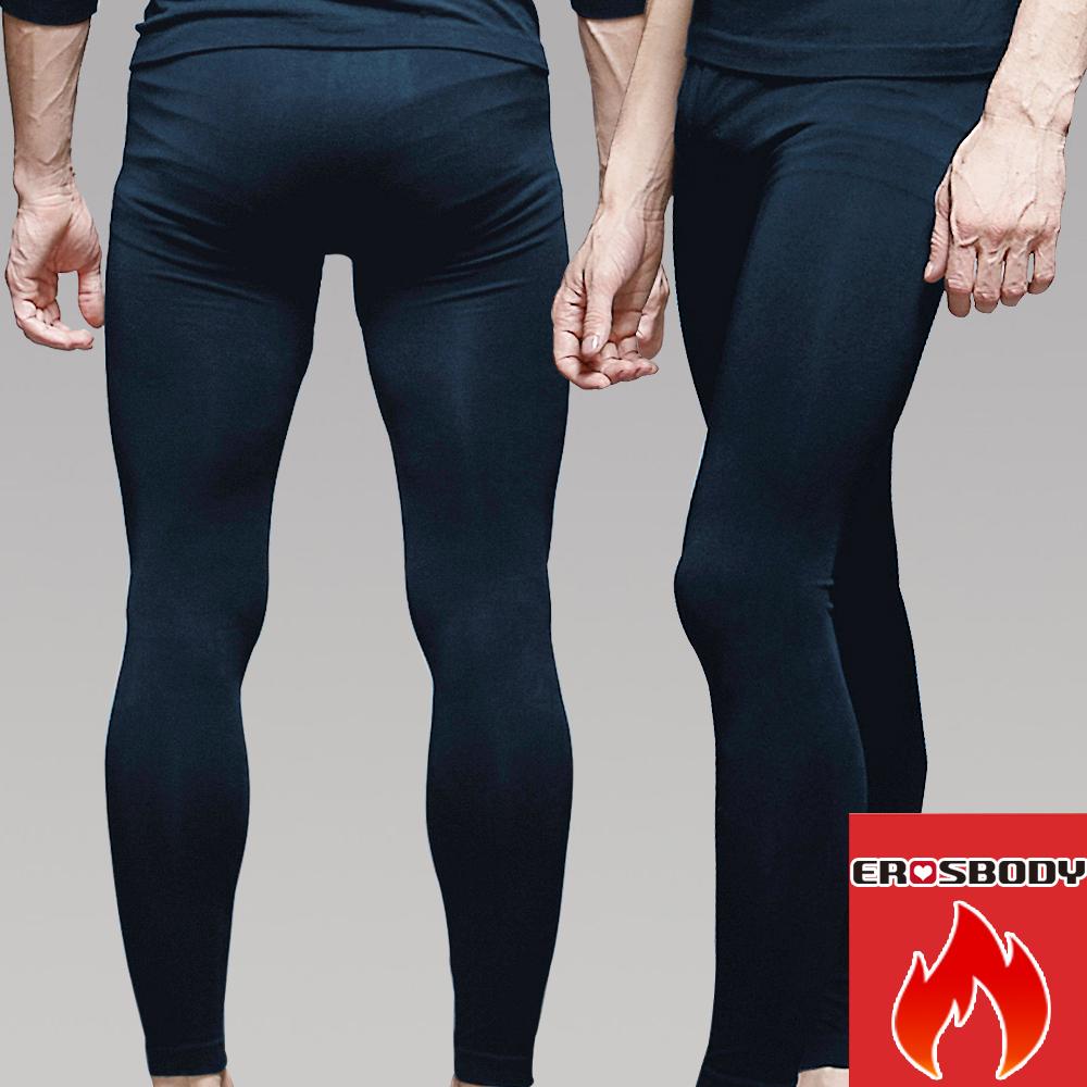 男日本機能纖維平織衛生褲保暖發熱褲 暗礦藍 EROSBODY