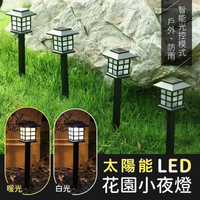 太陽能LED庭院花園小夜燈(2入組)