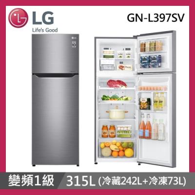 [時時樂限定] LG樂金 315公升 1級變頻直驅雙門電冰箱 GN-L397SV 星辰銀