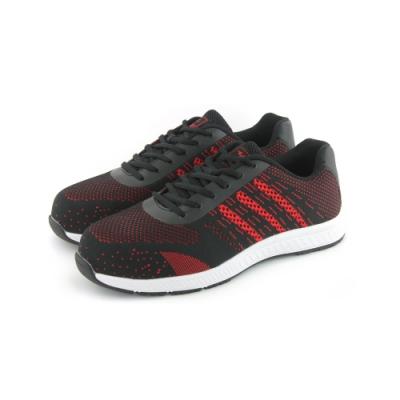 COMBAT艾樂跑男鞋-針織透氣運動鞋-黑紅(FA595)