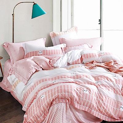 Ania Casa 萌萌貓 天絲 100% TENCEL 加大鋪棉兩用被套床包四件組