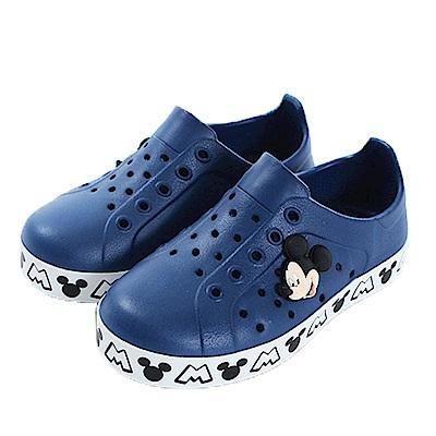 迪士尼米奇輕量洞洞鞋 深藍 sk0471 魔法Baby
