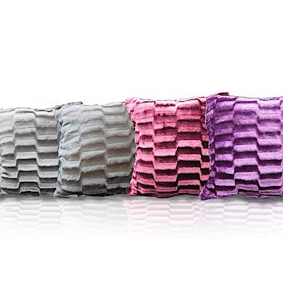 范登伯格閣采立體格紋抱枕兩入一組50x50cm