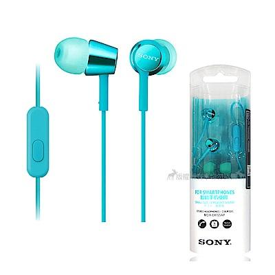 SONY 入耳式立體聲線控耳機-淺藍色 MDR-EX155AP(平行輸入-盒裝)
