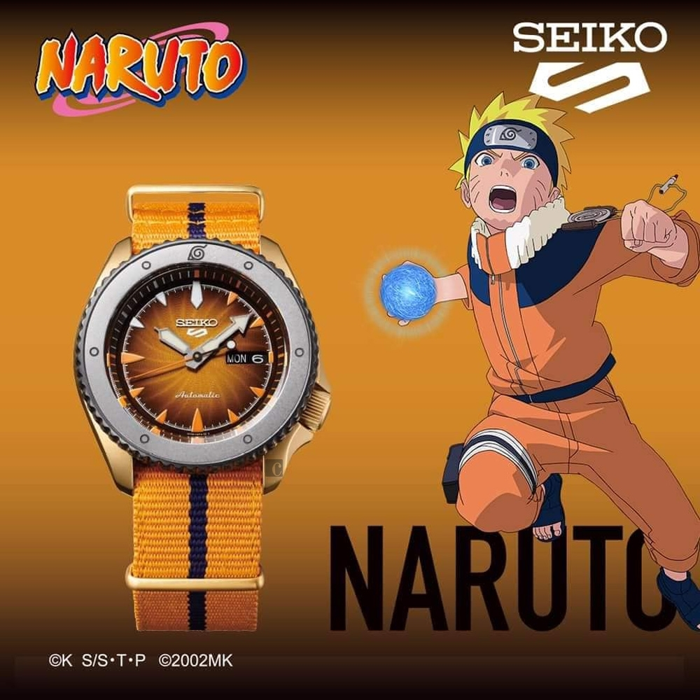 SEIKO 精工 5 Sports x 火影忍者 鳴人 聯名限量機械錶(SRPF70K1)-42.5mm