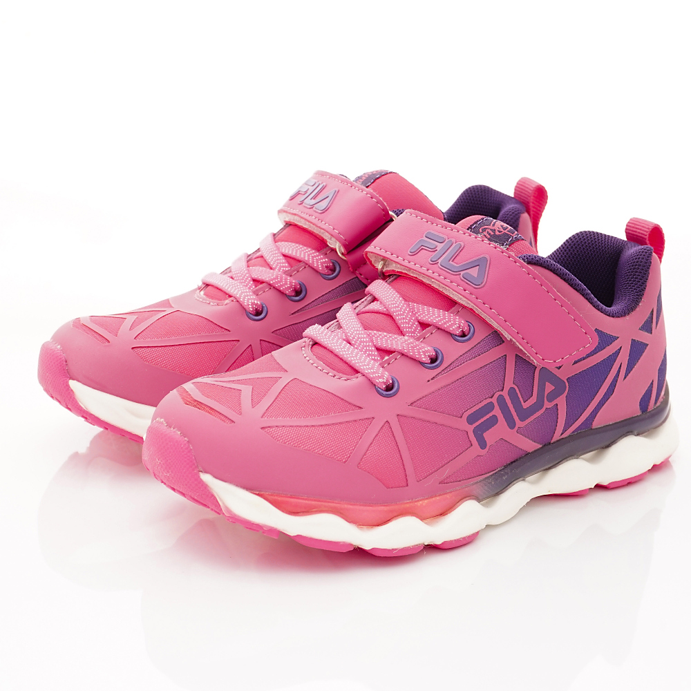 FILA頂級童鞋 輕量反光運動鞋款 FO06R-299桃紫(中小童段)C
