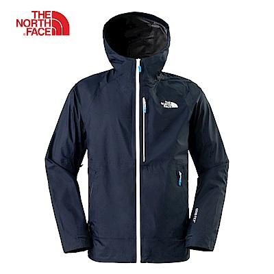 The North Face北面男款海軍藍防水透氣衝鋒衣|3L8AU6R