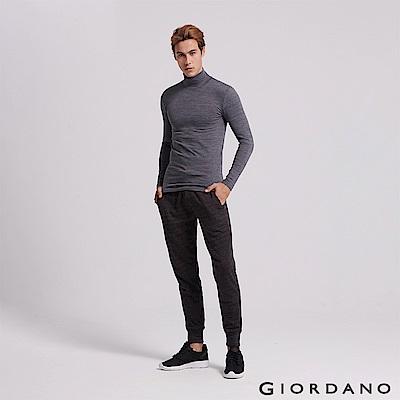 GIORDANO 男裝基本款棉質休閒運動束口褲-19 仿段彩黑