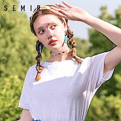 SEMIR森馬-基本百搭多彩色系簡約T恤-女