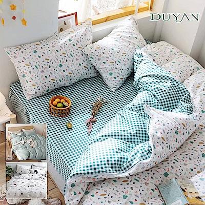 (限時下殺)DUYAN竹漾-100%精梳棉/200織-雙人/加大床包三件組-多款任選