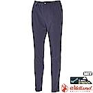 Wildland 荒野 0A71313-49深灰藍 女 彈性透氣排汗9分褲