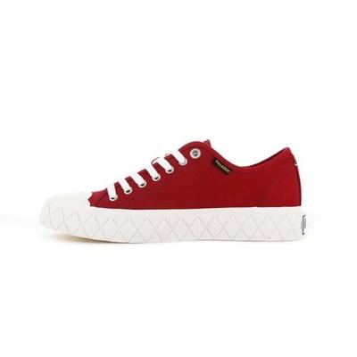 PALLADIUM PALLA ACE   男女 格紋厚底帆布鞋 紅-77014614