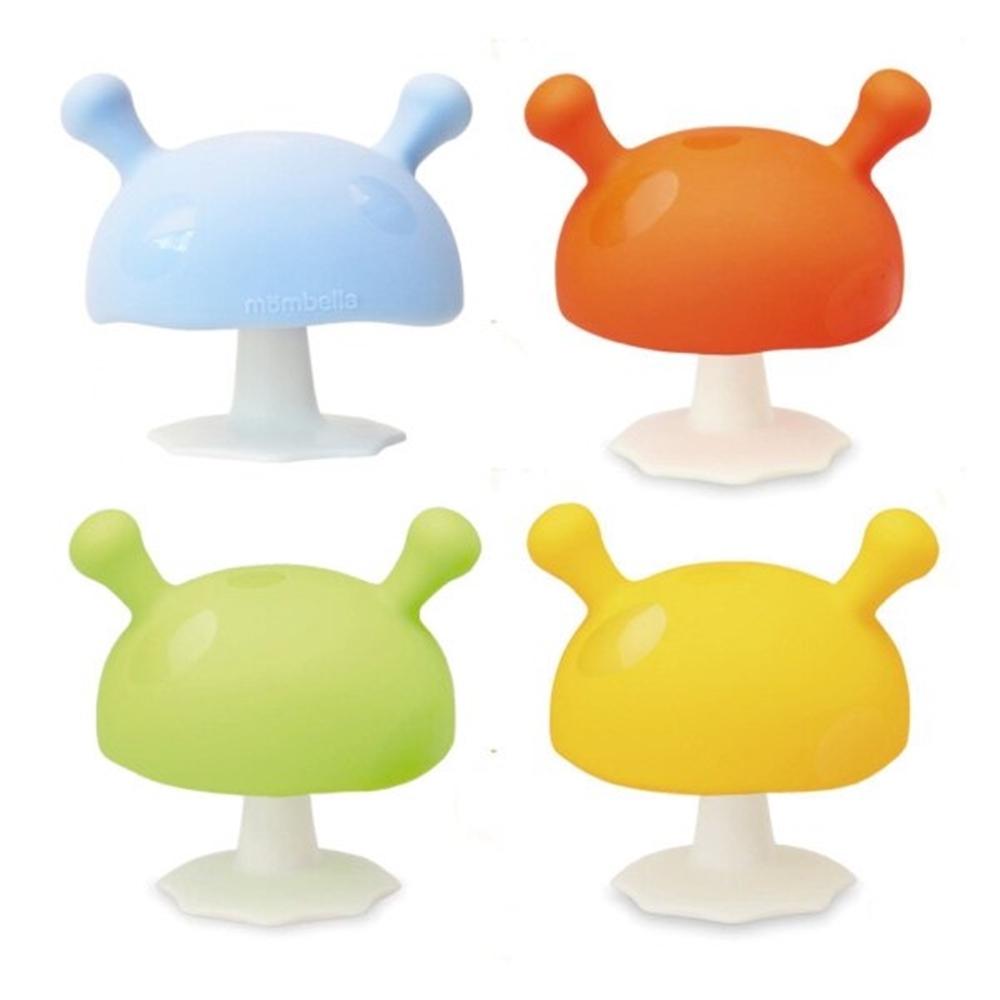 英國Mombella Q比蘑菇固齒器(藍/綠/橘/黃) P8053