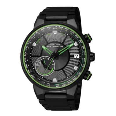 CITIZEN星辰 GPS衛星對時錶萬年曆青峰腕錶-44mm( CC3075-80E )