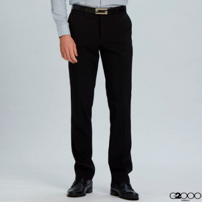 G2000平紋單品西褲-黑色