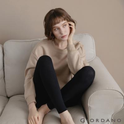 GIORDANO 女裝G-WARMER PLUS+極暖褲 - 02 標誌黑