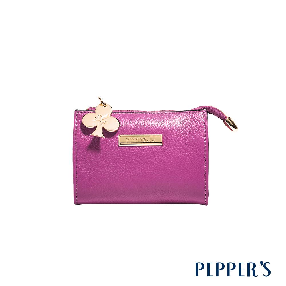 PEPPER`S Doris 牛皮鑰匙零錢包 - 桃紫