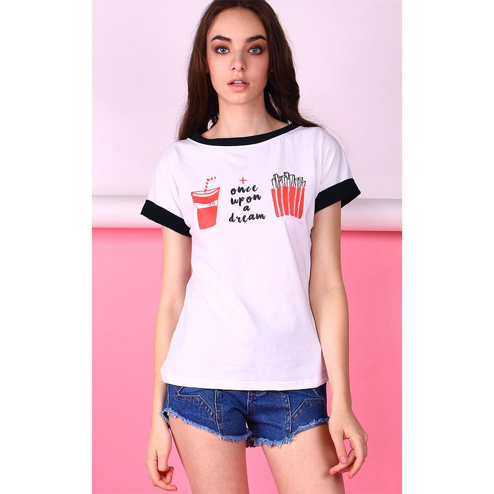 【TONGMENG】Once Upon A Dream 速食的美好雙色T-Shirt