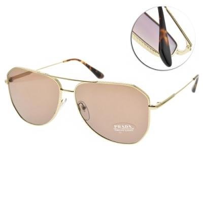 PRADA 太陽眼鏡 飛官框款/金-棕色強化玻璃鏡片 #VPR63X 5AK-05D-61mm