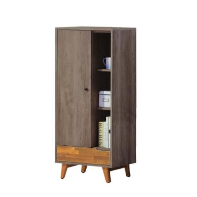 柏蒂家居-韋納2尺一門一抽收納置物櫃-60x38x134cm