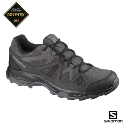 Salomon 男 GORETEX 低筒登山鞋 RHOSSILI 磁灰