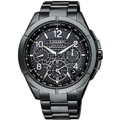 CITIZEN星辰 年度廣告 鈦光動能GPS衛星計時錶CC9075-52F-43.5mm