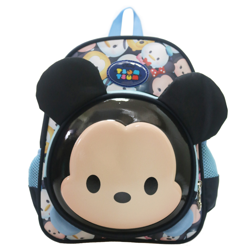 DF 童趣館 - 正版迪士尼Tsum Tsum立體3D直式後背書包-共2色