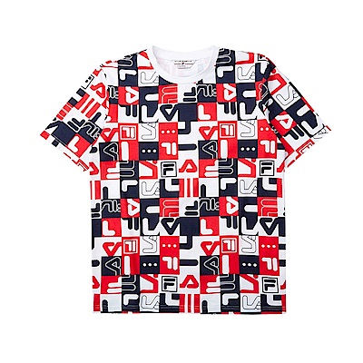 FILA #LINEA ITALIA 短袖圓領T恤-白色 1TET-5400-WT