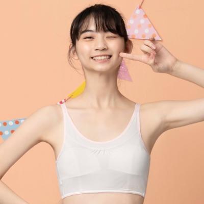 嬪婷-冰牛奶 S-LL 少女背心式內衣(白)學生第一階段