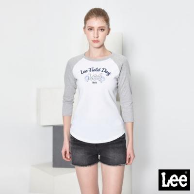 Lee短T FIELD DAY七分袖圓領TEE 女款 灰色