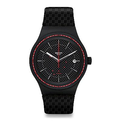 Swatch 51號星球機械錶 SISTEM DAMIER 棋盤經典手錶