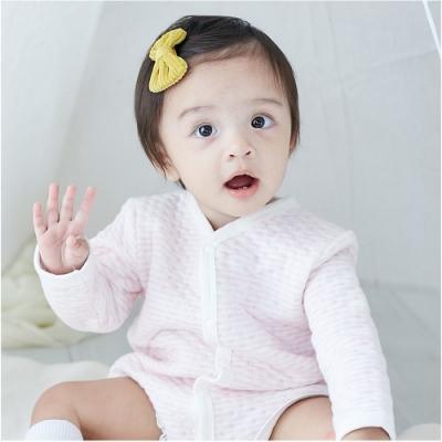 Baby 童衣 空氣棉包屁衣 彩棉條紋長袖爬衣 92013(共三色)