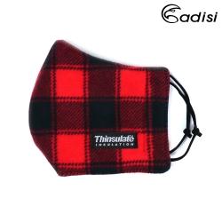 【ADISI】防風保暖口罩AS19026 / 紅黑格紋