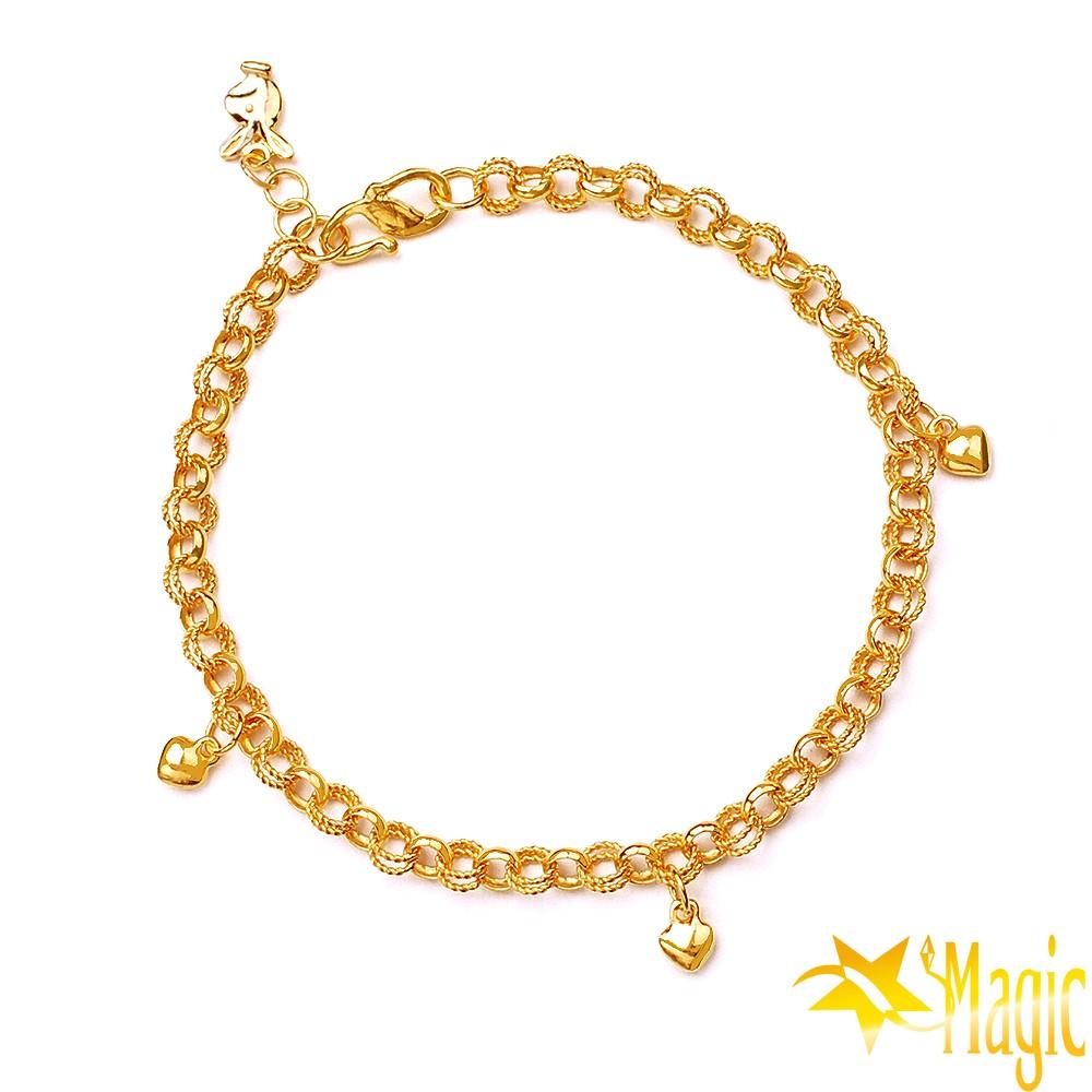 Magic魔法金-甜心黃金手鍊(約2.00錢)(約寬0.4cm約長17cm)