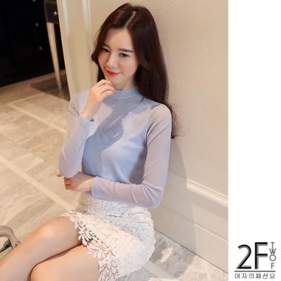 2F韓衣-韓系圓領造型上衣-3色(S-XL)