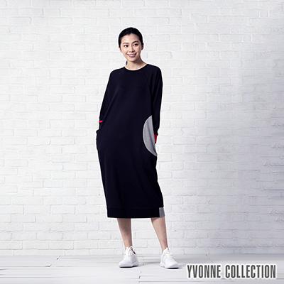 YVONNE幾何運動風長袖洋裝
