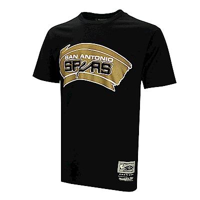 M&N NBA 燙金隊徽T恤 馬刺隊 BA2B0CSASKH21