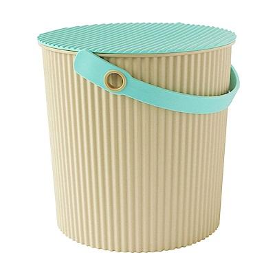 日本優秀設計獎賞HACHIMAN時尚L型10公升收納桶(綠色系)