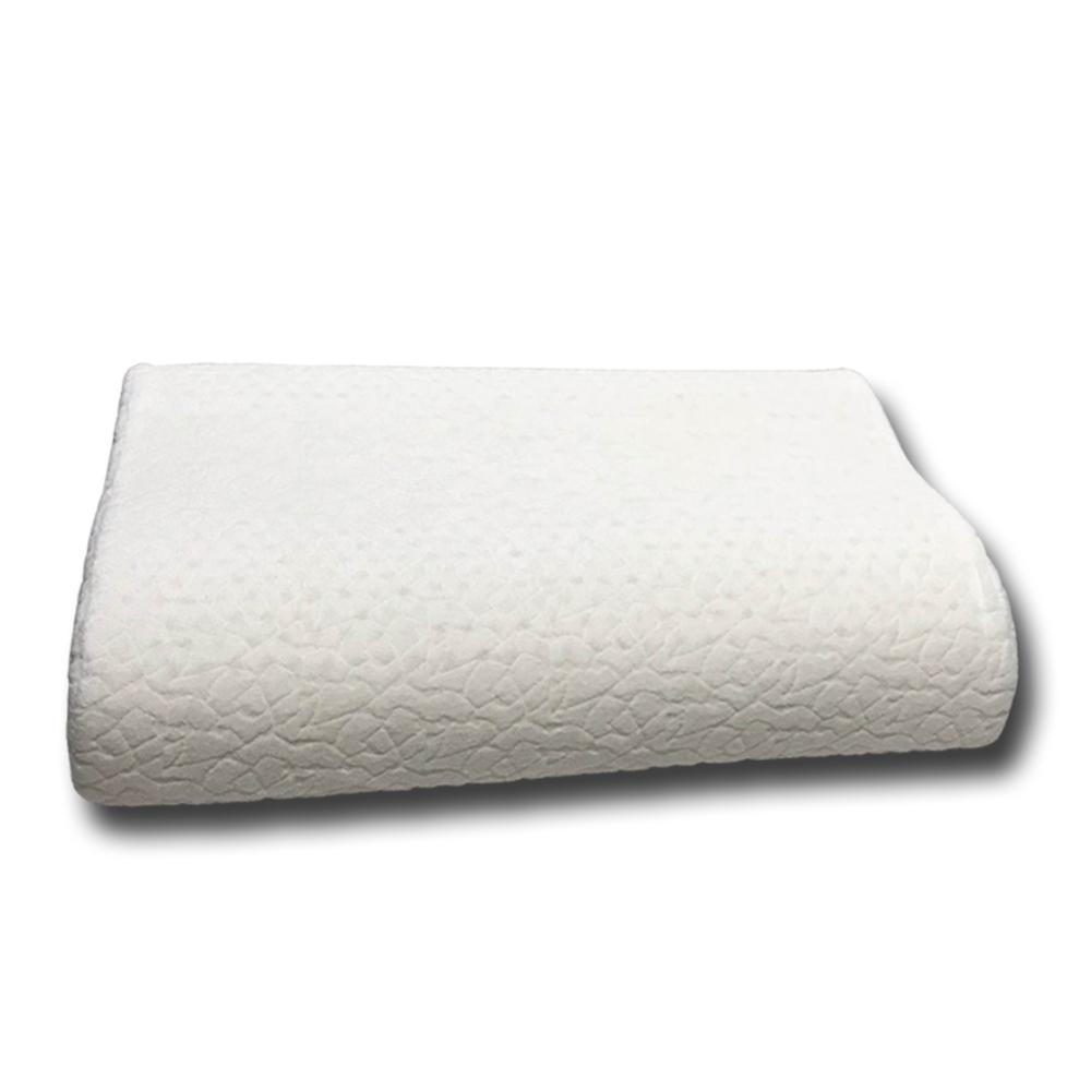 金德恩 台灣製造 曲線型透氣舒眠乳膠枕 63x41cm 彈性/透氣/不易變形