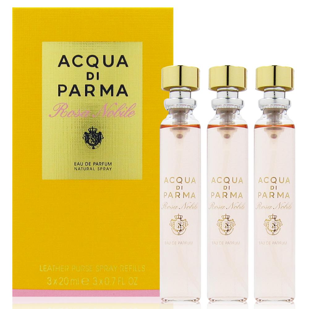 Acqua Di Parma 高貴玫瑰花女性淡香精 隨身噴霧補充瓶20ml x3入