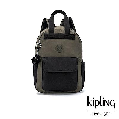 Kipling 低調百搭大地系撞色手提雙肩後背包(小)-TIMIL S